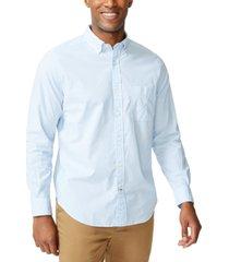nautica men's classic-fit stripe poplin shirt