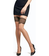 natori women's luxe lace back seam sheer tights hosiery