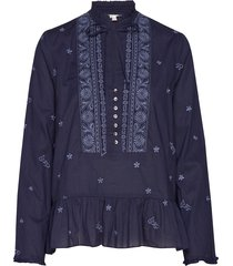 dance more dances blouse blouse lange mouwen blauw odd molly