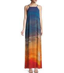 leonissa desert ombré maxi dress