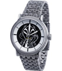 disney villains jafar men's antique silver vintage watch 44mm