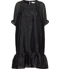 genzi dress knälång klänning svart modström
