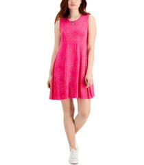 style & co printed dress, created for macy's