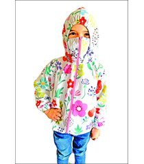 chaqueta proteccion estampada flores rosada f protect 8 - 10
