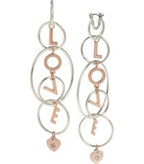 bcbgeneration 'love' multi ring chandelier earrings