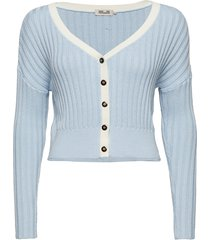 carleigh stickad tröja cardigan blå baum und pferdgarten