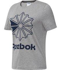 camiseta reebok classic big logo mujer