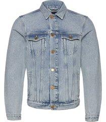 ams blauw trucker jacket - organic cotton -street beach jeansjacka denimjacka blå scotch & soda