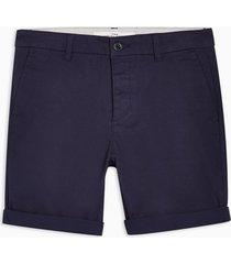 mens navy stretch skinny chino shorts