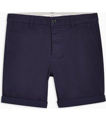 mens navy stretch skinny chino shorts