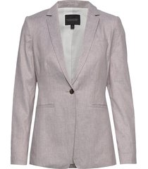 long & lean-fit linen-cotton blazer blazers business blazers beige banana republic