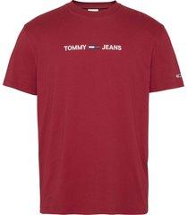 tommy hilfiger dm0dm09382 logo tee xlk wine red jeans