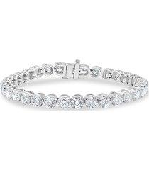 badgley mischka women's 14k white gold & 10 tcw lab-grown tennis bracelet