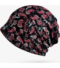womens flowers ethnic cotton beanie hat vintage vogue cappellino con elastico per turbante elastico