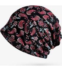 womens flowers ethnic cotton beanie hat vintage vogue cappellino con elastico per turbante elastico
