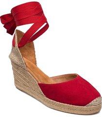 candida_ks sandalette med klack espadrilles röd unisa