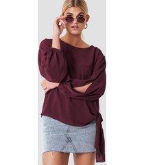 rut&circle amera open sleeve blouse - red