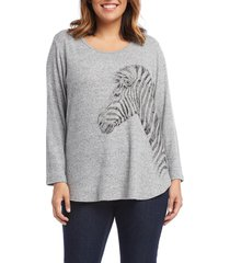 plus size women's karen kane zebra sweater