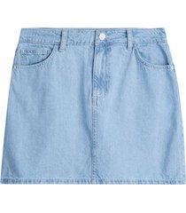 falda denim para mujer color azul, talla 12