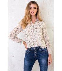 bloemen blouse deluxe wit