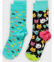 happy socks cat gift box strumpor mönstrad