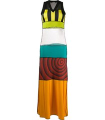jean paul gaultier pre-owned 1999 patchwork maxi dress - yellow