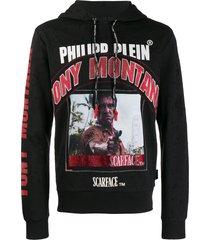 philipp plein scarface hoodie - black