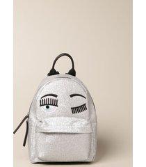 chiara ferragni backpack chiara ferragni glitter backpack with flirting logo