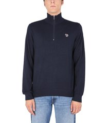 ps by paul smith high neck sweater with zebra logo patch