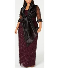 adrianna papell plus size evening wrap jacket