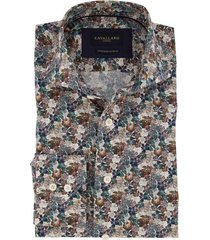 cavallaro overhemd mouwlengte 7 bloemenprint