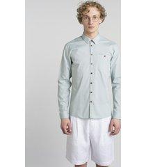 koszula dopasowana ''slim'' w kolorze pistacjowym