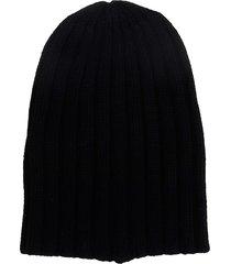 laneus hats in black cashmere