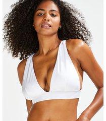 hunkemöller lola triangel-bikiniöverdel vit