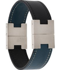 hermès pre-owned h buckle bracelet - black
