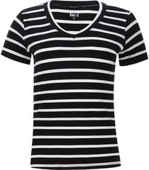 camiseta mujer a rayas color negro, talla l