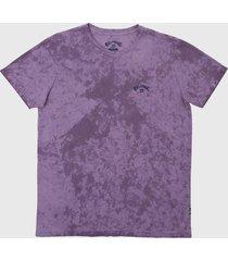 camiseta billabong archwave tie dye roxa - roxo - masculino - dafiti
