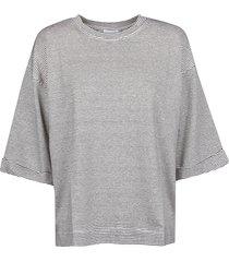calvin klein collection stripe t-shirt