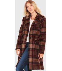 abrigo wados escoces marrón - calce holgado