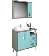 conjunto de banheiro são joão lótus, ópera e verde, 80 cm