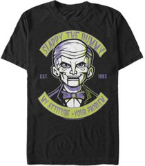 goosebumps classic sony men's slappy the dummy profile doesn't play well short sleeve t-shirt