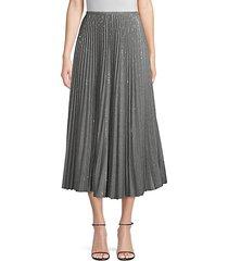 jahira pleated sequin skirt