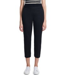 theory women's treeca pull-on trousers - navy multi - size 12