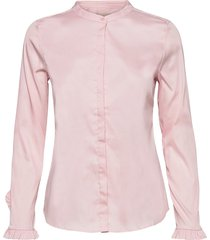 mattie sustainable shirt overhemd met lange mouwen roze mos mosh