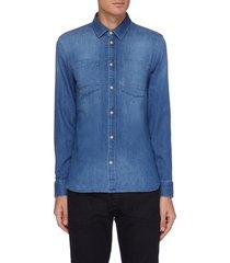 'axel' three-year indigo denim shirt