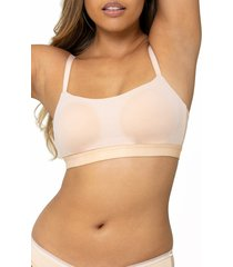 women's lively the eco straight up bralette, size x-small - beige