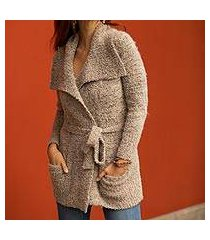 alpaca blend sweater jacket, 'frothed cocoa' (peru)