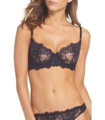 women's skarlett blue entice underwire balconette bra, size 36dd - black