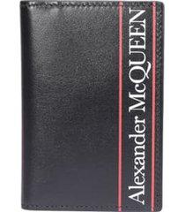 alexander mcqueen logo print pocket organizer wallet