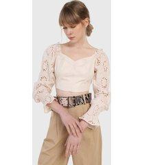 blusa beige glamorous
